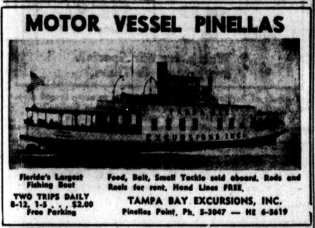 Motor Vessel Pinellas Ad 03111957 St. Petersburg Times