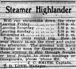 Advertisement in the State - 16 April, 1904