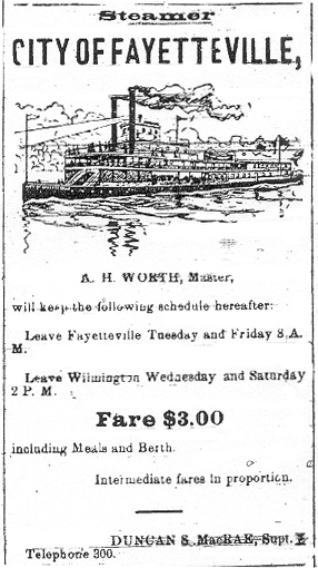 CITY OF FAYETTEVILLE - 1903 Ad.