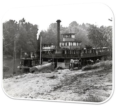 Steamer City of Fayetteville at Landing (about 1910)