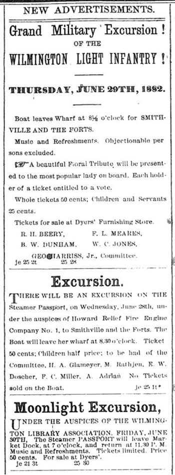 Wilmington Morning Star Ads - June 25, 1882