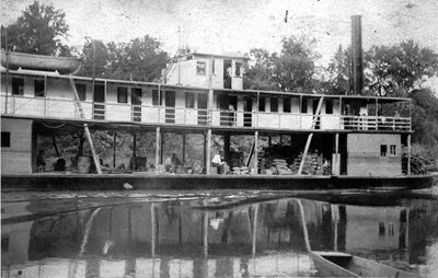 The Steamer A. P. Hurt in motion.