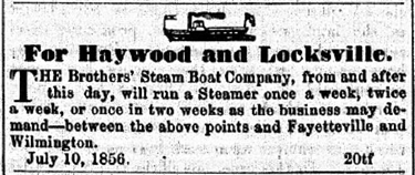 Brothers' Steam Boat Company Advertisement