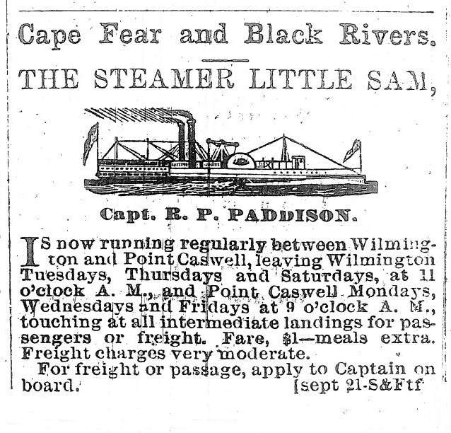 Steamer LITTLE SAM Advertisement