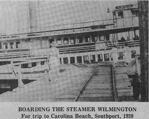Boarding the WILMINGTON c1920