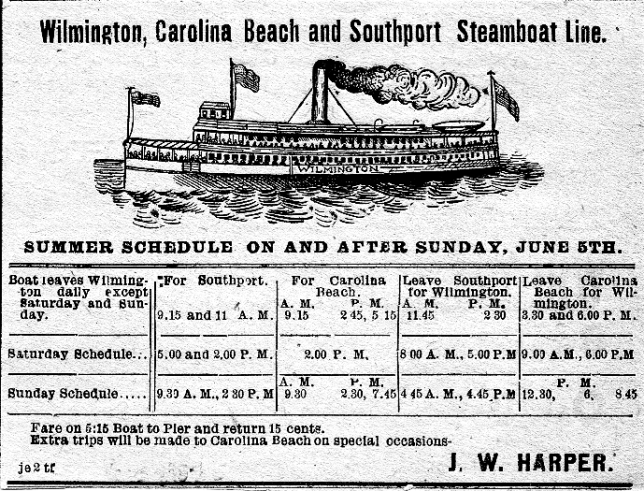 City of Wilmington 1904 Steamer Schedule