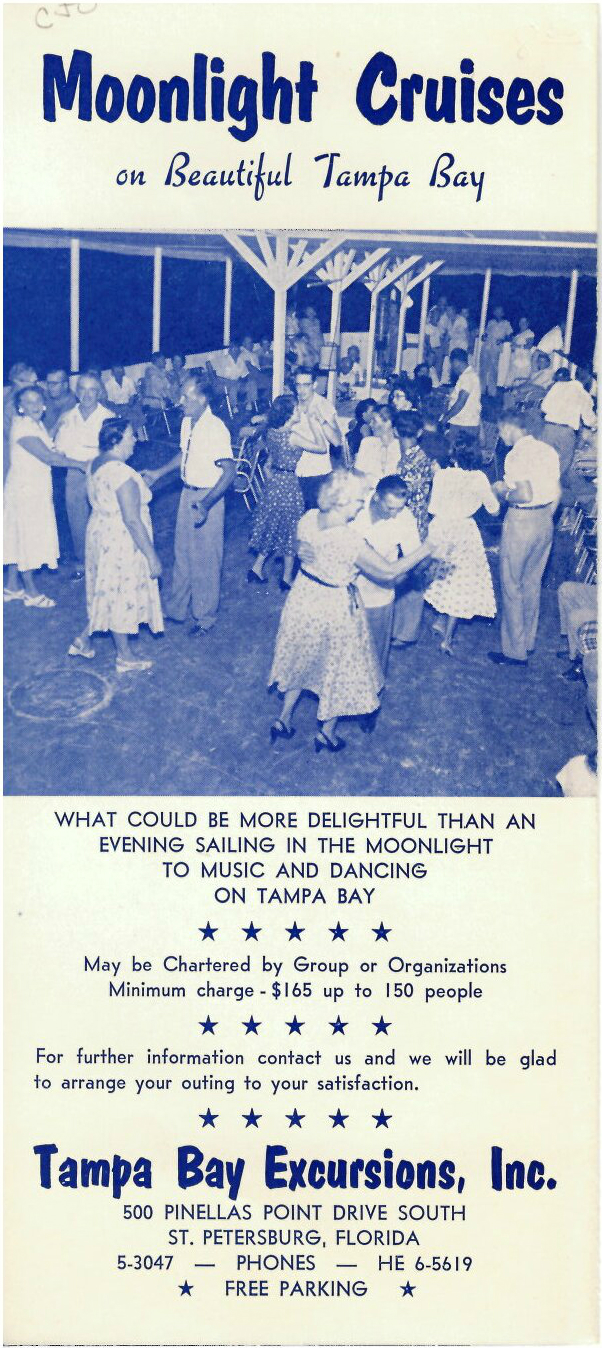 Tampa Bay Excursions, Inc. Pamphlet Outside 1