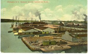 Hall & Pearsall WaterLand Depot Postcard