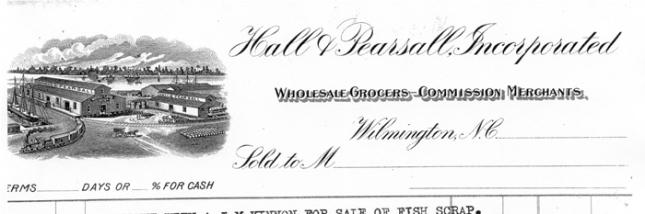 Hall & Pearsall Receipt Letterhead